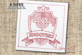 Shooters Redwork Design Military Embroidery Design By Redwork101
