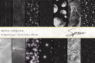 Space Digital Papers Graphic Backgrounds By BonaDesigns