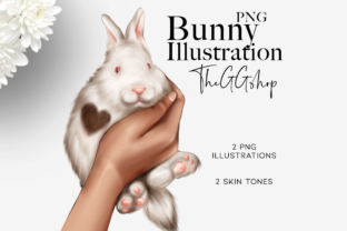 Print on Demand: Spring Easter Bunny Illustration Clipart Graphic Illustrations By TheGGShop