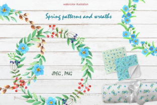 Spring Patterns and Wreaths Graphic Illustrations By alisa-lagner