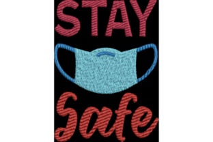 Stay Safe Awareness & Inspiration Embroidery Design By Wingsical Whims Designs