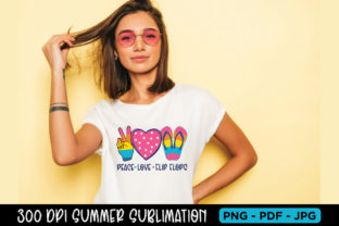 Summer Sublimation, Peace Love Flip Flop Graphic Crafts By Beauty Crafts