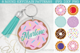 Sweet Desserts Keychain Pattern SVG Graphic Crafts By paperart.bymc