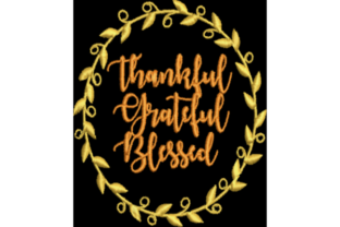 Thankful Saying Thanksgiving Embroidery Design By Wingsical Whims Designs