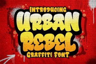 Print on Demand: Urban Rebel Display Font By Blankids Studio