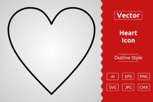 Print on Demand: Vector Heart Outline Icon Design Graphic Icons By Muhammad Atiq