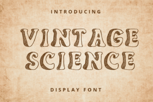 Print on Demand: Vintage Science Display Schriftarten von Planetz studio