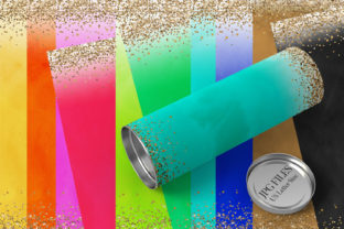 Print on Demand: Watercolor Glitter Papers Graphic Backgrounds By DarraKadisha