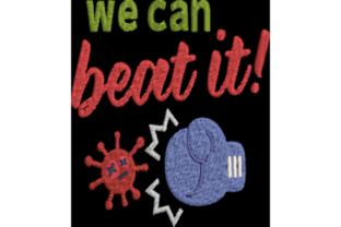 We Can Beat It Awareness & Inspiration Embroidery Design By Wingsical Whims Designs
