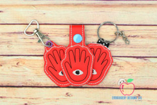 World Braille Day Eye ITH Keyfob Design Inspirational Embroidery Design By embroiderydesigns101