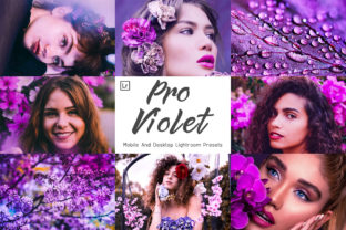 Print on Demand: 10 Pro Violet Mobile and Lightroom Graphic Actions & Presets By 3Motional
