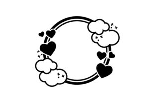 Heart and Clouds Designs & Drawings Craft Cut File By Creative Fabrica Crafts