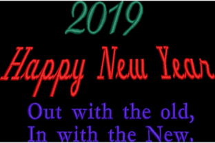 2019 Happy New Year Holidays & Celebrations Embroidery Design By Wingsical Whims Designs