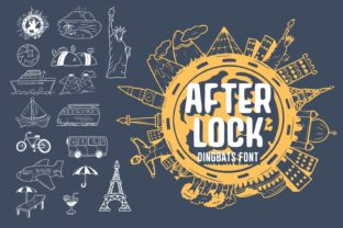Print on Demand: After Lock Dingbats Font By Dito (7NTypes)