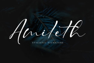 Print on Demand: Amileth Script & Handwritten Font By Maung Lines