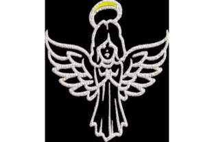 Angel Christmas Embroidery Design By Wingsical Whims Designs