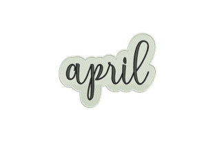 April Spring Embroidery Design By DigitEMB