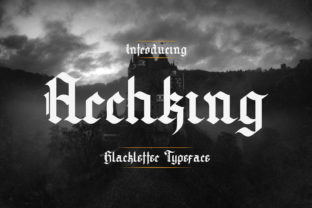 Print on Demand: Archking Blackletter Font By TypeFactory