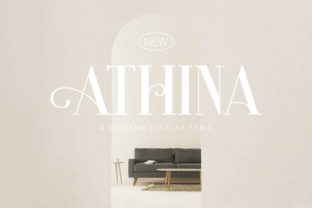 Print on Demand: Athina Serif Font By Rillatype