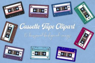 Print on Demand: Audio Cassette Clipart Graphic Objects By northseastudio