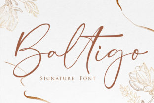 Print on Demand: Baltigo Script & Handwritten Font By Maung Lines