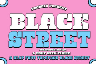 Print on Demand: Black Street Display Font By jehansyah251