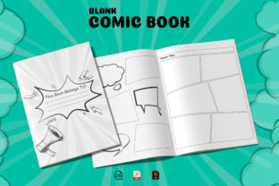 Blank Comic Book KDP Interior Graphic KDP Interiors By Design invention