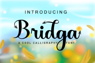 Print on Demand: Bridga Script & Handwritten Font By Rezastudio
