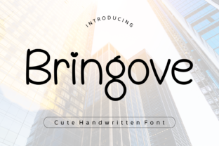 Print on Demand: Bringove Script & Handwritten Font By Rizkky (7NTypes)