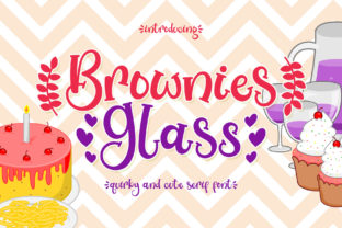Print on Demand: Brownies Glass Serif Fuente Por airotype