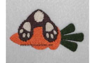 Bunny on Carrot Easter Embroidery Design By Wingsical Whims Designs