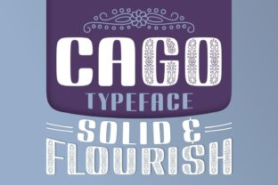 Print on Demand: Cago Display Font By Jasm (7NTypes)