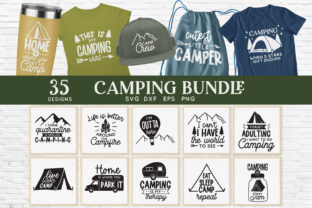 Camping Bundle Graphic Crafts By peachycottoncandy