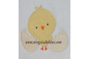 Chick and Egg Easter Embroidery Design By Wingsical Whims Designs