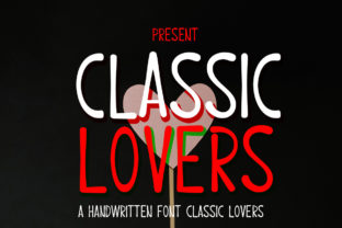 Print on Demand: Classic Lovers Display Font By edwar.sp111