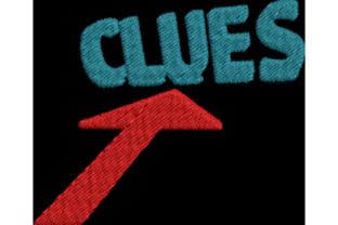 Clues with Arrow Games & Leisure Embroidery Design By Wingsical Whims Designs