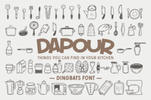 Print on Demand: Dapour Dingbats Font By Dito (7NTypes)