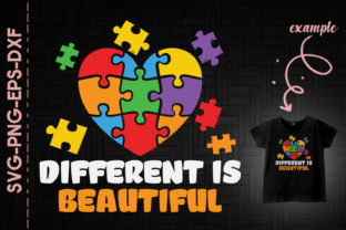 Print on Demand: Different is Beautiful Autism Awareness Graphic Crafts By Utenbaw