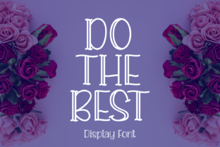 Print on Demand: Do the Best Display Font By Rizkky (7NTypes)