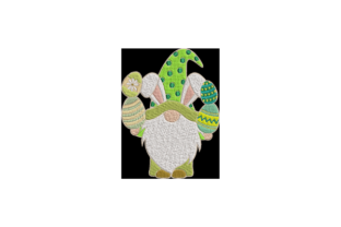 Easter Bunny Gnome Easter Embroidery Design By Wingsical Whims Designs