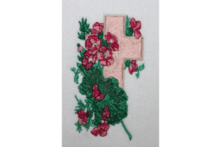 Easter Cross Easter Embroidery Design By Wingsical Whims Designs