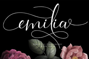 Print on Demand: Emilia Script & Handwritten Font By Maung Lines