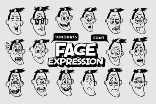 Print on Demand: Face Expression Dingbats Font By Dito (7NTypes)