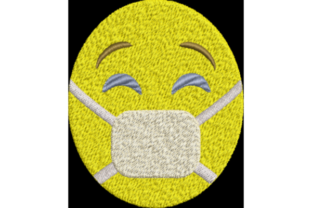 Face with Quarantine Mask Awareness Embroidery Design By Wingsical Whims Designs