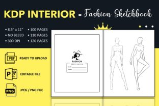 Print on Demand: Cuaderno de Bocetos de Moda - KDP Interior Gráfico Páginas KDP Por KDP King