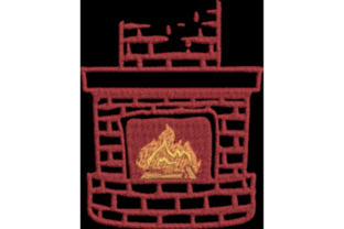 Fireplace Christmas Embroidery Design By Wingsical Whims Designs