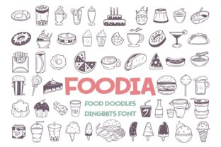 Print on Demand: Foodia Dingbats Font By Dito (7NTypes)