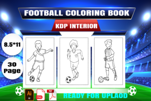 Football Coloring Book  KDP Interior Graphic Coloring Pages & Books Kids By Creative_Touch21