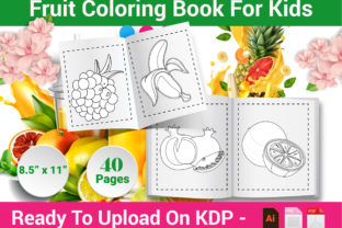 Print on Demand: Fruit Coloring Page for Kids - KDP Graphic Coloring Pages & Books Kids By Family Color