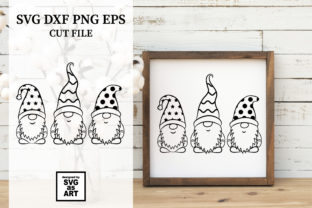 Garden Gnomes SVG Cut File Graphic Crafts By SVGasART